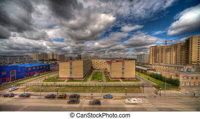 City HDR timelapse. - HDR timelapse of cityscape, Astana,...