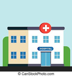 City hospital building or clinic