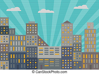 City in retro style