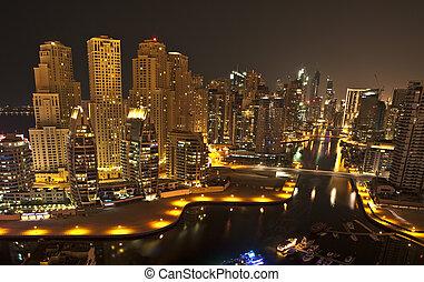 City in the night , Dubai