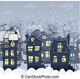 City in the night (Winter)