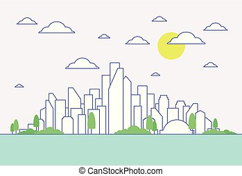 City in the summer2
