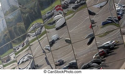 parking in the reflection