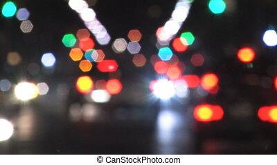 City intersection. Defocused.