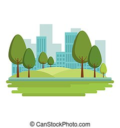 city landscape cartoon