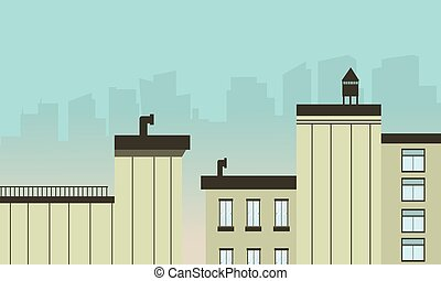 City landscape flat design modern vector