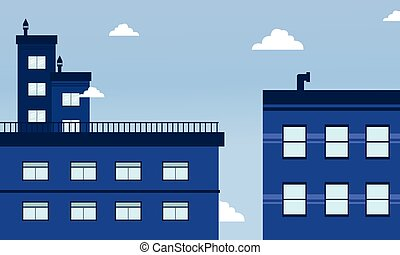 City landscape skyline of vector