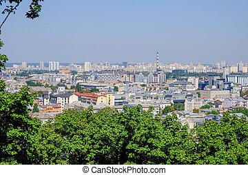 City landscape view of Kiev