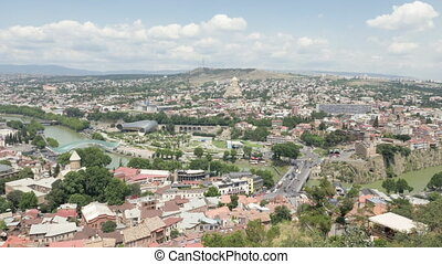 City landscape. View of the city of Tbilisi from a height - Georgia