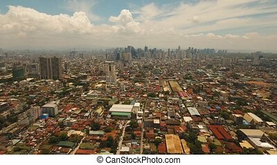 City landscape with skyscrapers Manila city Philippines -...