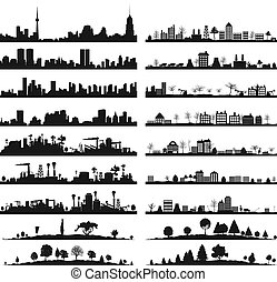 City landscape3 - Collection of city landscapes. A vector ...