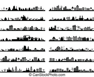 City landscape4 - Collection of city landscapes. A vector ...