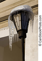 lantern with icicles