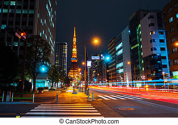 city life and traffic in Tokyo, Japan