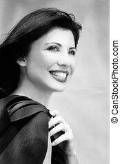 City life - Beautiful smiling woman