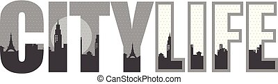 city life cityscape view sign symbol