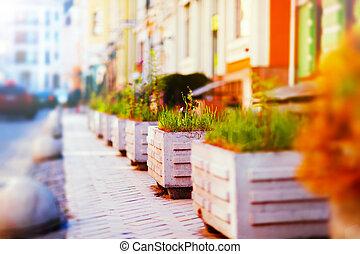 City life - Creative abstract urban architecture retro...