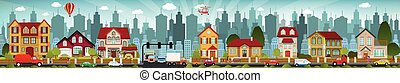 City life - Vector illustration of city life
