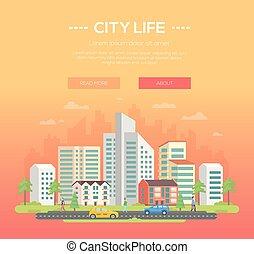 City life - modern vector illustration
