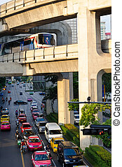 City life of Bangkok