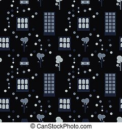 City life seamless pattern. Suitable for screen, print and...