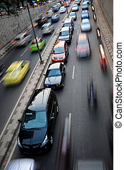 City life - Traffic congestion in Jakarta, Indonesia