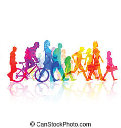 City Lifestyle - Various Modern People - vector...