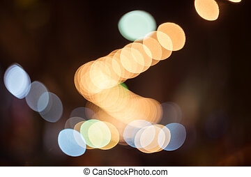 City light bokeh background in the night