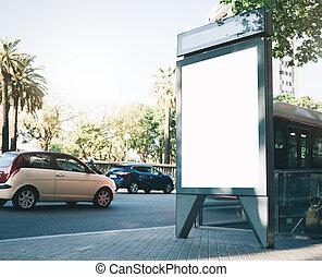 City light box mock up on the street