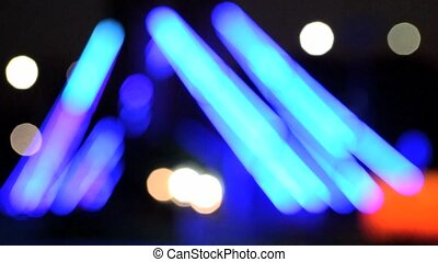 city lights blur