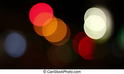 City Lights Bokeh - Red, yellow, green or blue...