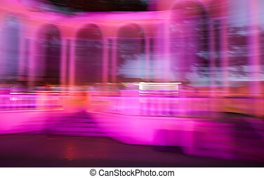 City lights in motion at night as abstract background.