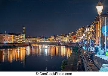 City Lights of Pisa.