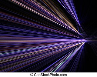Abstract fractal background. Computer generated graphics. Motion blur city night lights.