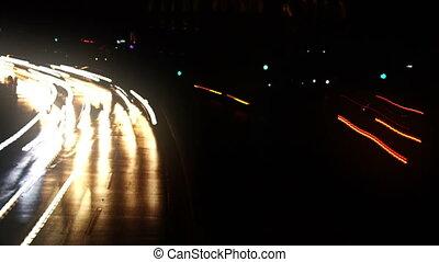 City Lights - Timelapse shot of a city traffic.