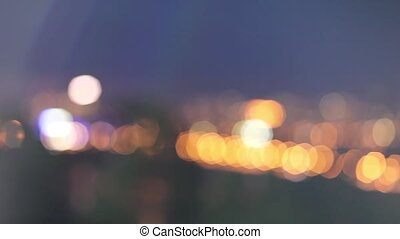City lights with beautiful bokeh