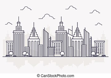 City Line Art Background
