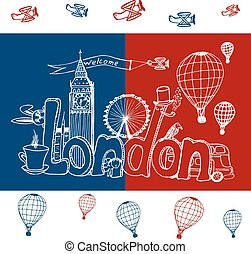 City London. Freehand sketch - Freehand sketch. Name of...