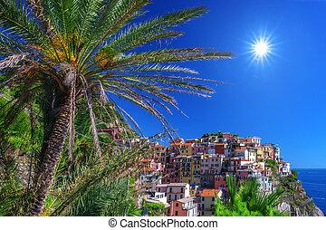 manarola - city manarola in cinque terre, Italy