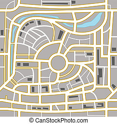 City map abstract background - City map abstract seamless...
