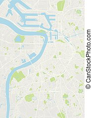 City map Antwerp, color detailed plan, vector illustration...