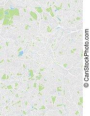 City map Birmingham, color detailed plan, vector illustration
