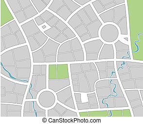 city map - vector city map