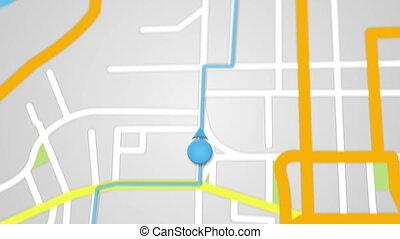 city map GPS navigation seamless loop - city map GPS...