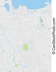 City map Jakarta, color detailed plan, vector illustration