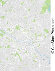 City map Leeds, color detailed plan, vector illustration
