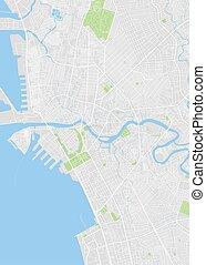 City map Manila, color detailed plan, vector illustration