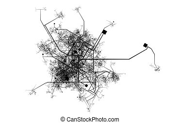 City Map of a Fictional Town Roads and Streets