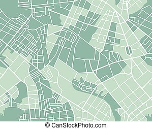 City map seamless - Editable vector street map of town as...