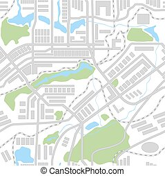 City map seamless pattern